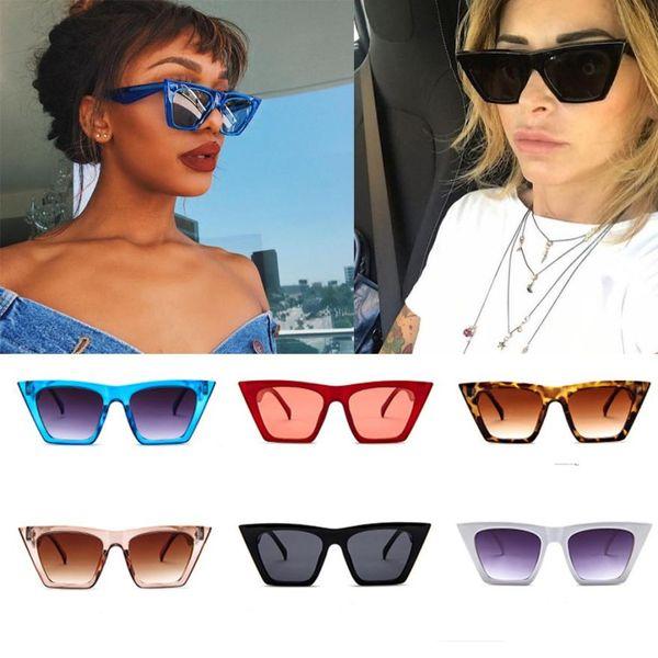 Велоспорт очки Привлекательные женщины дамы Крупногабаритные солнцезащитные очки Великолепного Vintage Retro Cat Eye Солнцезащитные очки Flawless зрелищ