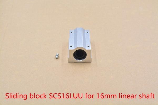 SC16LUU SCS16LUU bearing 16mm linear motion ball bearing slide block for 16mm rod round shaft XYZ Table CNC 1pcs