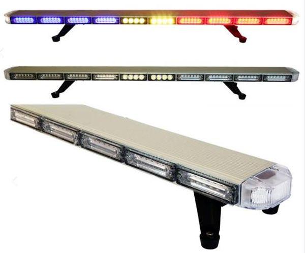 Free Shipping 120cm/47 inch high quality police emergency vehicle warning lightbar slim led lightbar roof mount car flash strobe lightbar