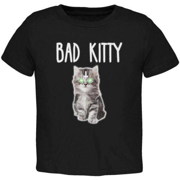 Halloween Bad Kitty Cat Ghost Toddler T Shirt Men Women Unisex Fashion tshirt Free Shipping black