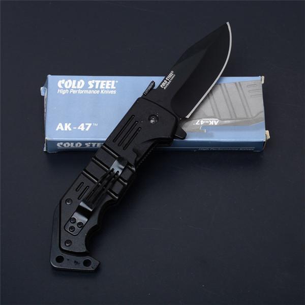 Бесплатный DHL открытый gear холодная сталь AK47 Флиппер выживания карманный нож тактический спасательный складной нож утилита EDC охотничьи ножи P196R Y