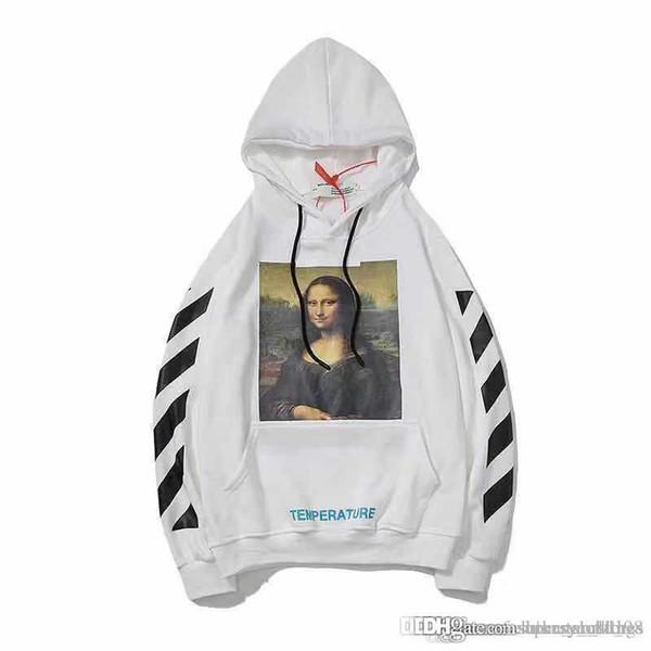 Diseñador para hombre Sudadera con capucha Sudadera de algodón Blanco Negro Rojo Sudadera con capucha Suéter Carta suelta con letra suelta Mona Lisa Jersey