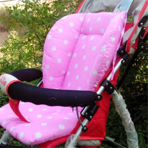 Bambino appena nato Kid Passeggino Auto sede morbida Mat Pram ammortizzatore della sedia rilievo Liner Mat Supporto corpo Passeggino accessori Rosa Dot Mat