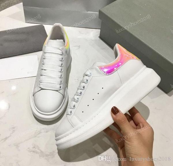 Multicolor Luxus Designer Komfort Casual Lederschuhe Männer Frauen Leder Sneaker Persönlichkeit Trainer Kleid Party Daily Shoes chaussures