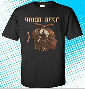 New Uriah Heep Totally Driven RoFunny Band Men's BlaFunny T-Shirt Size S to 3XL