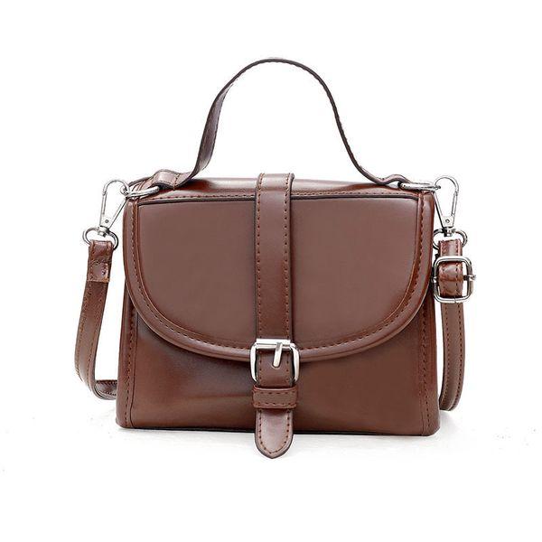 Free2019 Bag All-match Tide Atmosphere Oblique Satchel Saddle Single Shoulder Portable Woman Package