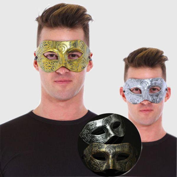 Roman/Greek Warrior Mask Men's Venetian Halloween Costume Party Masquerade Mask