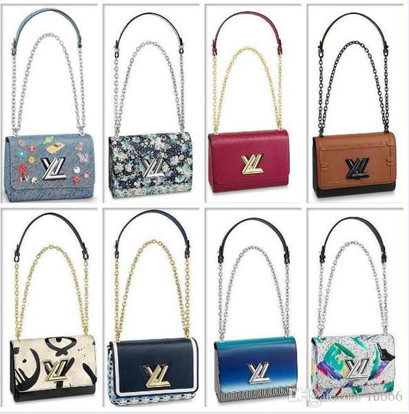 Bolsos LVLV de alta calidad Bolsos de lujo de diseñador Sac à main wallet Epi Cuero genuino Todo Denim Bolso Cross Body Bag TWIST MM Dark Khaki