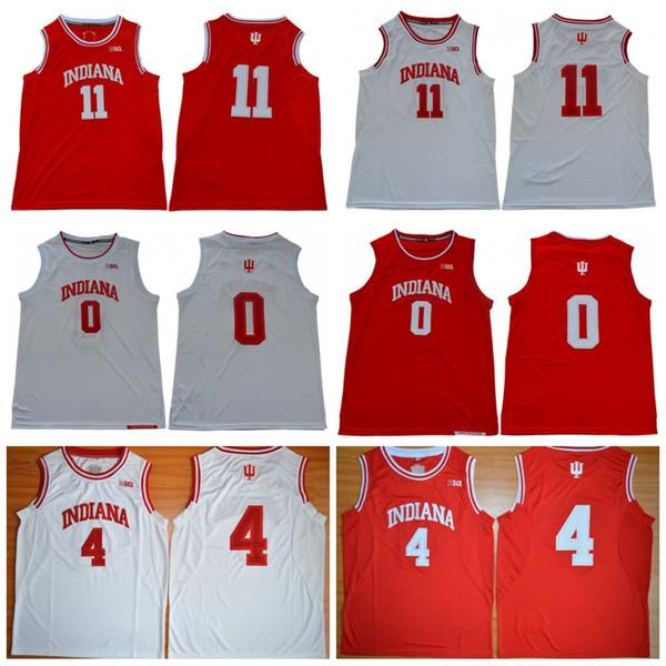 NCAA Indiana Hoosiers Basketball Jersey 0 Romeo Лэнгфорд Джерси 4 Oladipo 11 Томас Виктор Isiah Devonte NO NAME S00