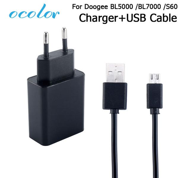 Chargeurs téléphones portables ocolor Pour Doogee 5000 7000 60 S60 Lite + Chargeur USB Branchez le câble de charge pour la tête Doogee BL5000 BL7000 S60