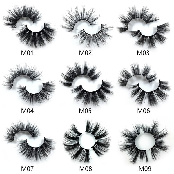 Factory direct sale 7 pairs 3D mink eyelashes thick false eyelashes 3D false eyelashes handmade fake Lashes
