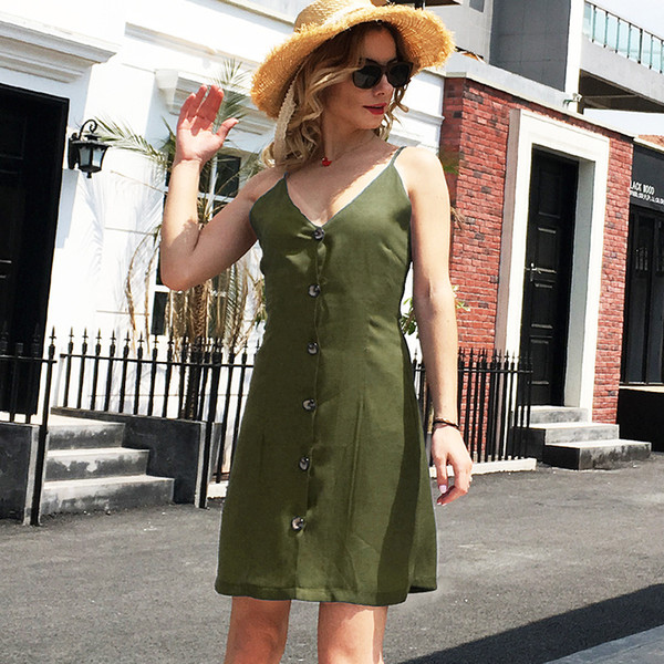 2019 New Wholesale Women Party Sexy Dress Summer Club Fashion Casual Mini for Lady Female V Neck Dresses S-2XL 6 Colors