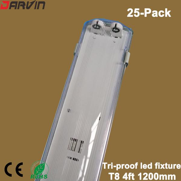 Apparecchio a Led T8 4ft 1.2M Apparecchio a tubo Tri-proof Led Apparecchio a Led T8 Staffa di supporto per tubo impermeabile Antipolvere Antideflagrante