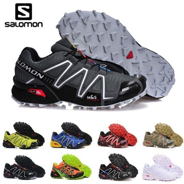 Großhandel 2019 Neue Salomon Speed Cross 3 CS III Outdoor Männliche Camo Rot Schwarz Sportschuhe Mens Speed Crosspeed 3 Laufschuhe Zapatos Hombre