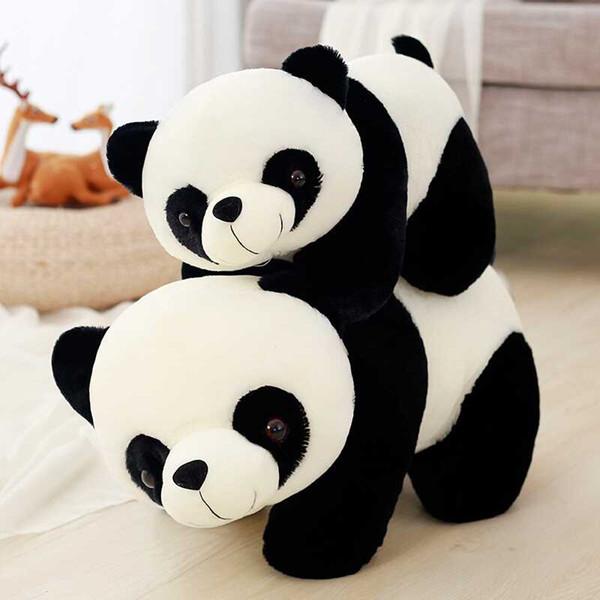 Niedliche Stofftier Riesenpanda plüsch spielzeug kawaii Kinder Puppe Weiche Kissen Baby Fluffy Toys Chinesische Geschenke für Kinder Dropshipping