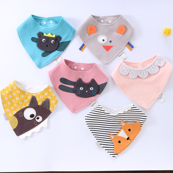 baby bibs Burp Cloths infant dimensional embroidered triangle towel cotton slobber towel Baby Feeding bibs for babies M035