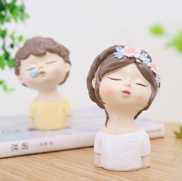 hot sale Creative boy girl decoration raw as summer flower resin crafts zakka cake car home decoration Arts and Crafts