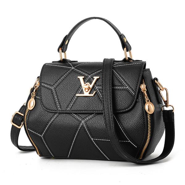 Flap V Brand Womens Bag Luxury Leathe Handbags Shell thread Ladies Clutch  Designer Bag Sac A Main Femme Bolsas Women sTote Purse 1515d02ce4
