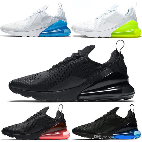Acquista Nike Air Max 270 27c Airmax 2019 Parra Hot Punch Photo Blu Uomo Donna Scarpe Da Corsa Triple White University Red Olive Volt Habanero