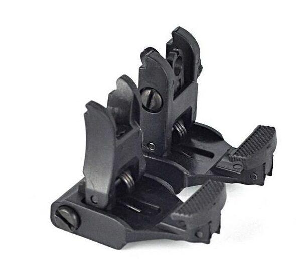 best selling Free Shipping AR-15 Rapid Tactical Front And Rear Flip-up Back-up Sight Set For Picatinny Rail