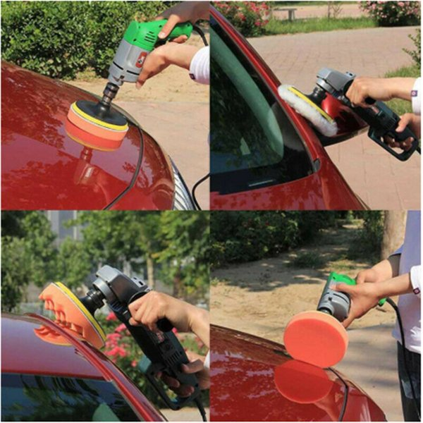 11pcs voiture mousse Drill éponge POLISSAGE Kit Râper Pads fartage Polisseuse Tampon Drill Brosse voiture de polissage de cire éponge