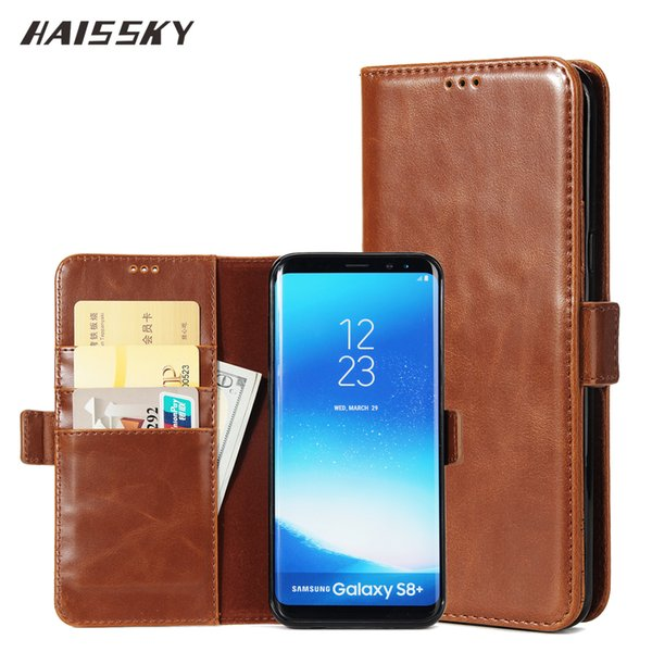 wholesale Book Leather Case For Samsung Galaxy S5 S6 S7 Edge S8 Plus Wallet Case For Samsung A3 A5 A7 2016 2017 Phone Flip Covers
