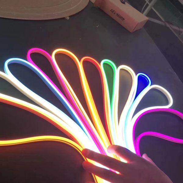 best selling 12V Super Bright 2835 LED Neon Tube Flex Strip Rope Light Soft Silica Gel 6mm * 12mm IP67 Waterproof 120LEDs m Outdoor for Club Sign DIY