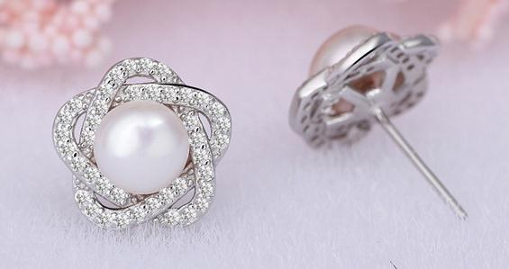 Natural freshwater pearl fashion trend five-star earrings