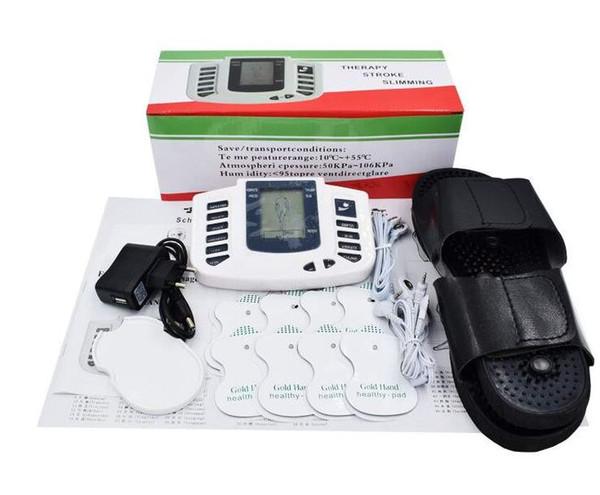 Elektrischer Anreger-voller Körper entspannen sich Muskel-Digital-Massager-Impuls Zehner-Akupunktur mit Therapie-Hefterzufuhr 16 PC-Elektroden-Auflagen