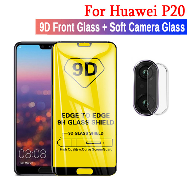 Camera Lens & 9D Tempered Glass For Huawei P20 P20pro Screen Protector Full Glue On Huawey Huawai P 20 Pro Protective Glass Film