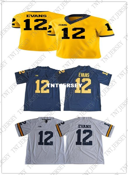 best service 57163 43d60 2019 Cheap Wholesale NEW Chris Evans Jersey #12 Michigan Wolverines  Football Jersey Stitched High Quality From Tntjersey, $40.11 | DHgate.Com