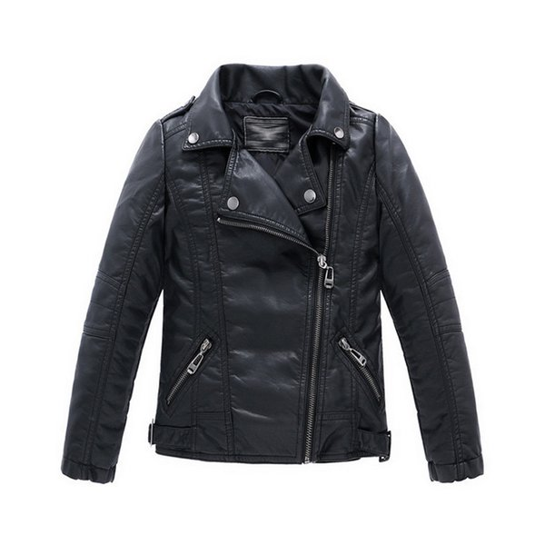 Boys Kids leather jacket Sobretudo infantil casacos Kids Infant leather jacket PU Jaqueta de couro infantil Infant overcoat