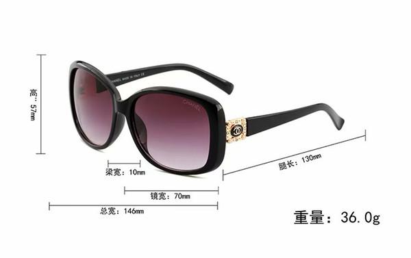 1pcs High Quality Fashion Round Sunglasses Mens Womens Designer Brand Sun Glasses Gold Metal Black Dark 50mm Glass Lenses Better Black Case