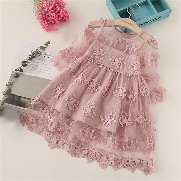 Elegant Lace Flower Girl Dresses Sequined Applique Dresses