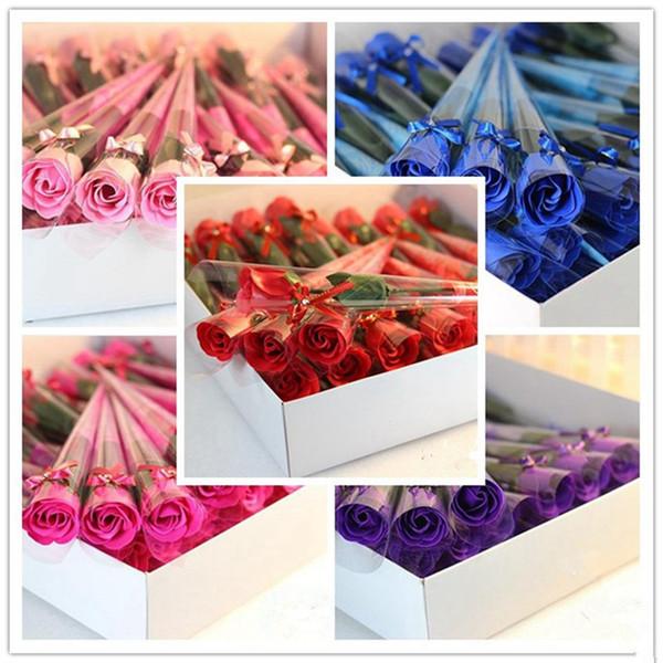 Kokulu Banyo Sabunu Gül Sabunu Çiçek Petal İçin Düğün Sevgililer Günü Anneler Günü Öğretmenler Günü Hediye RRA2612
