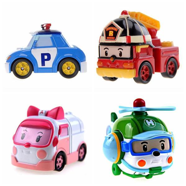 Silverlit Robocar Poli 4 stili in lega auto DIE CAST DEL VEICOLO Poli Roy Helly Ambra lega Ambulanza bambini delle automobili giocattolo LA120