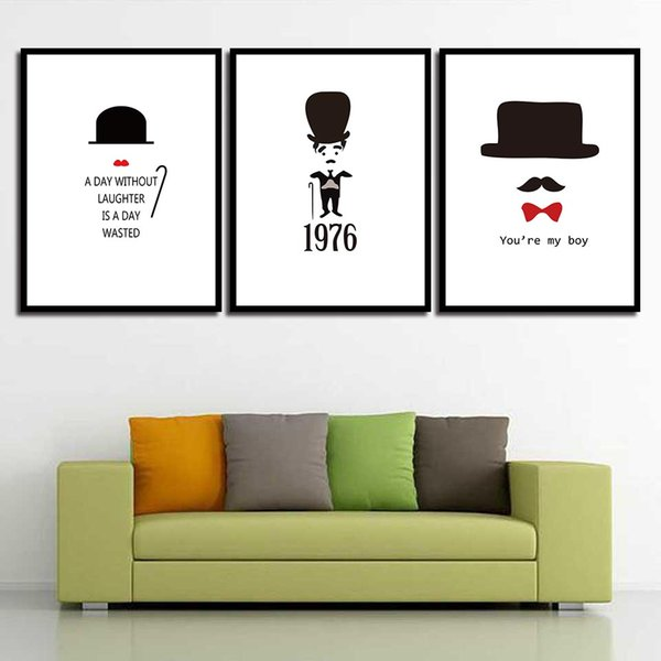 Posters Nursery HD Prints Minimalism Decoration For Baby Room Cartoon Hat Wall Art Canvas Nordic Painting Picture Kids Bedroom
