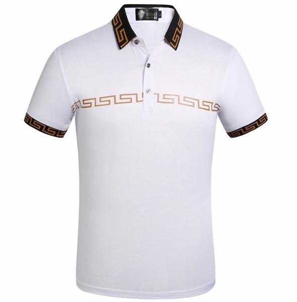 Mens designer POLO francese classico design uomo polo design classico ricamo 100% cotone camicia da uomo a maniche corte di marca