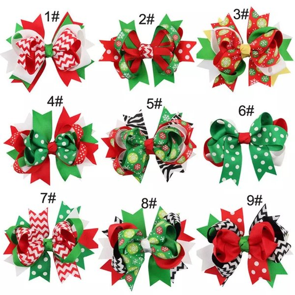 Baby Mädchen Haarnadeln Haarspange Kinder Haarspangen Haarspangen Schwalbenschwanz Bogen Bowknot Tupfen Haarnadeln Kinder Weihnachten Kostüm Zubehör Geschenke