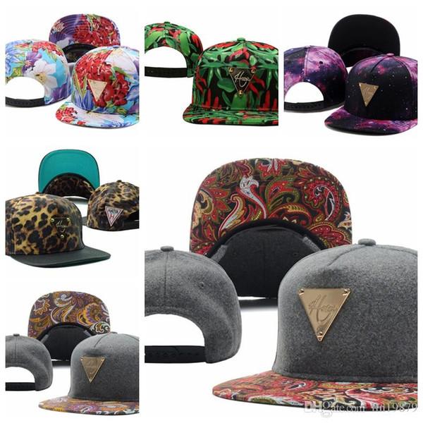 2019 Nueva moda Hater flor floral gorras de béisbol Hip Hop Snapback Cap para hombres mujeres toucas gorros Snapback sombreros