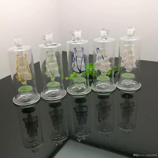 Farbige Segeln Sand Kern-Glas Hotpot Glas Wasser Shisha Griffrohre Rohre Freies Verschiffen der Qualitäts Raucher