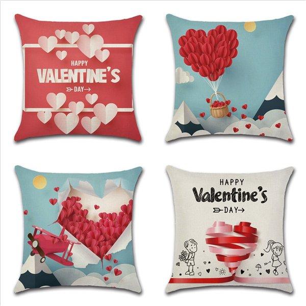 Federe Cuscini Amore.Acquista Amore Modello Cuscino San Valentino Decorazioni Federa Di