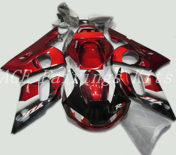 Alta calidad Nueva carenados de motocicleta ABS aptos para YAMAHA YZF R6 1998 1999 2000 2001 2002 YZF R6 98 99 00 01 02 kits de carenado personalizados rojo oscuro