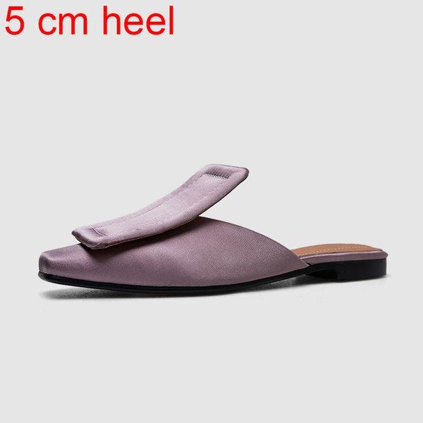 фиолетовый 5 см каблук