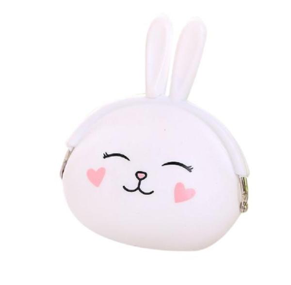 2019 pequena bolsa de moedas mini bolsas Banabanma moda coelho bonito projeto do coelho dos desenhos animados carteira zipper carteira de silicone mini bolsas