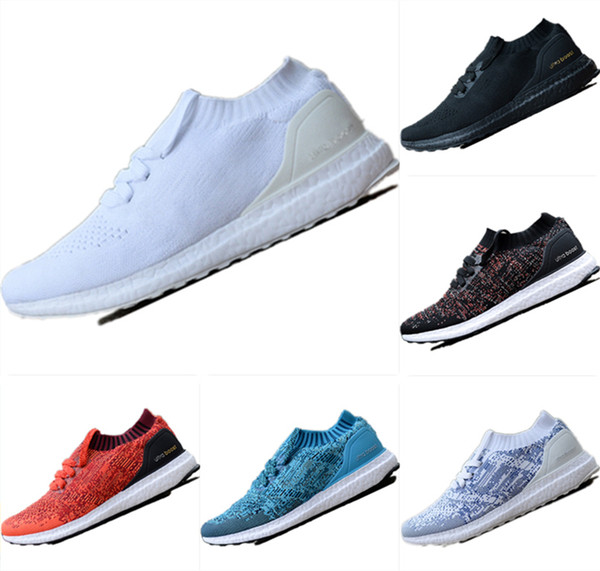 With Box 2019 New UB Uncaged Breathable Primeknit Slip-on Socks Running Sneakers UB Uncaged Cushioning Outdoor Athletic Shoes
