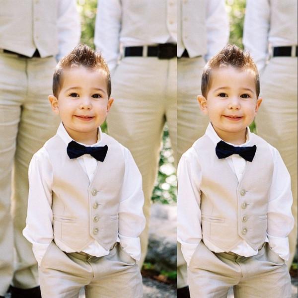Fashion Boy Vest Kids 2019 Five Button Slim Fit Formal Wear Boy's Wedding Vest (Vest+Pants)