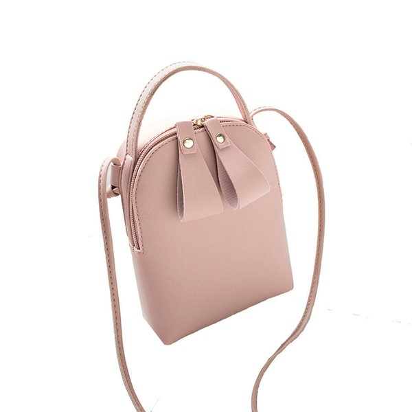 Cheap Candy Color One Shoulder Small Messenger Bag Mobile Phone Bag Purse Sweet and simple style