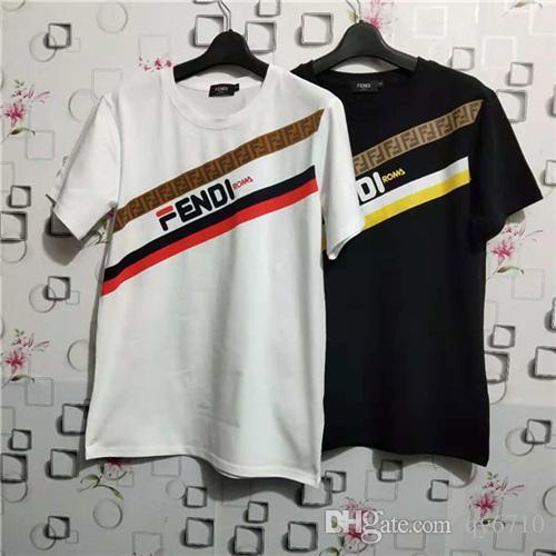 Nouveaux styles designer de luxe t-shirts de haute qualité t-shirts Rome F impression Tops manches courtes tshits pour hommes de mode pour femmes Tee vêtements