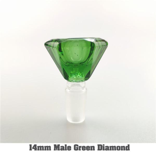 14 mm macho de verde diamante